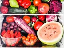 Fruits and vegetables inside refrigerator