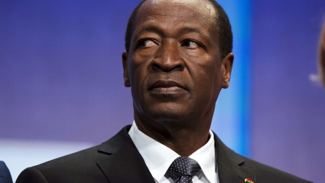 File picture shows Burkina Faso's President Blaise Compaore sitting on stage during the Clinton Global Initiative in New York