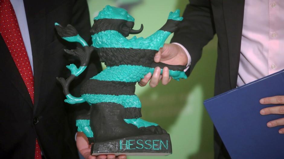 Unterzeichnung Koalitionsvertrag für Schwarz-Grün in Hessen