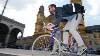 Radfahren Mit dem Fahrrad zur Arbeit