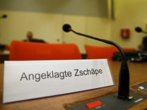 Picture shows an empty chair of defendant Zschaepe at a courtroom in Munich