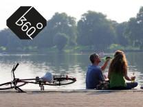 Sommer pur - Besucher am Aasee in Münster