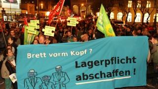 Flüchtlinge in München Demo gegen Asylpolitik