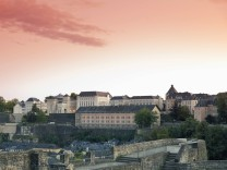 Luxembourg Luxembourg City View from the casemates Castle of Lucilinburhuc on Neumuenster conven