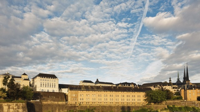 Luxembourg Luxembourg City District Grund View to the archive national ANLux on Plateau de Sain
