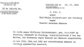 Die Recherche Verfolgung nach Schwulenparagraf 175