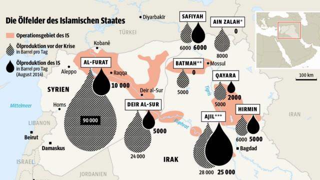 Ölfelder des IS