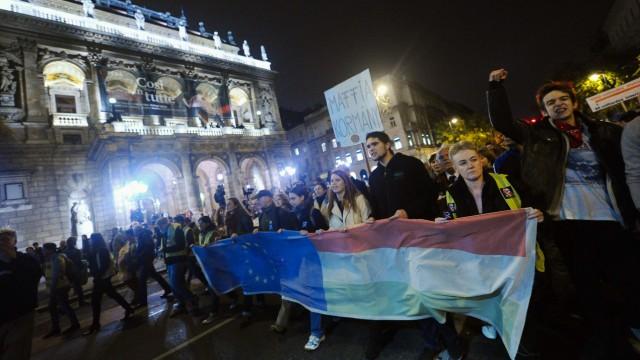 Proteste in Ungarn Proteste in Ungarn