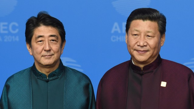 Japan's Prime Minister Shinzo Abe China President Xi Jinping  Apec