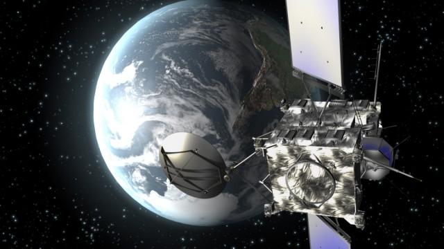 """Kometensonde ´Rosetta"""" in einer Computeranimation"""