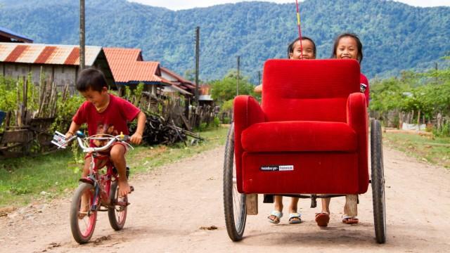 Weltreise Mit Möbel auf Reisen