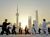 Sonnenaufgang in Shanghai