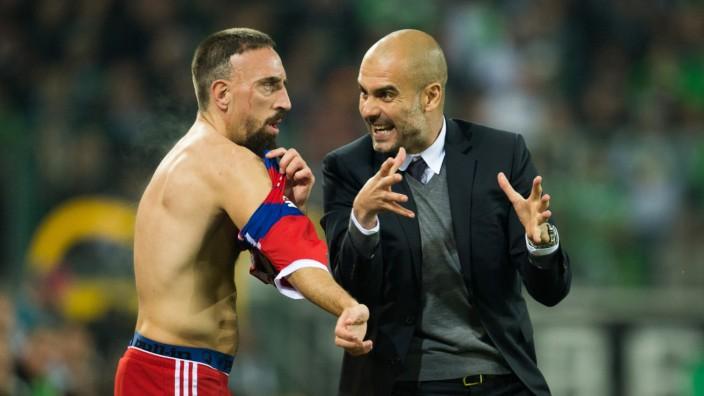 Pep Guardiola und Franck Ribery