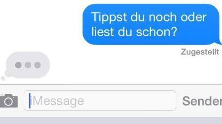 SMS schreiben auf iPhone