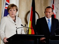German Chancellor Angela Merkel Attends Meetings In Sydney Following G20 Summit