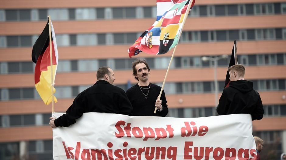 HoGeSa Hooligans Protest In Hanover