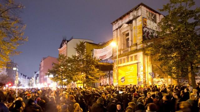Demonstration vor Roter Flora in Hamburg