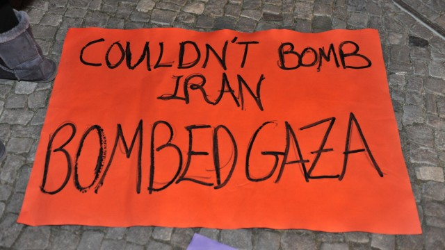 Demonstration gegen Israel
