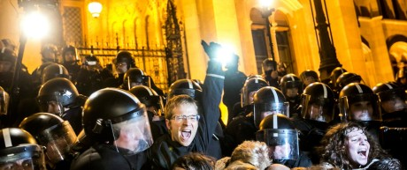 Anti-government protests in Budapest