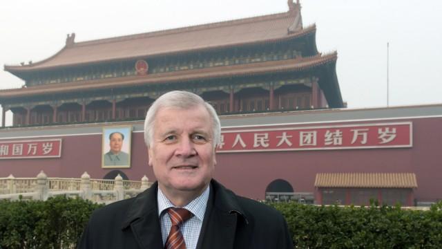 Bayerns Ministerpräsident Seehofer in China