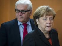 Steinmeier, Merkel