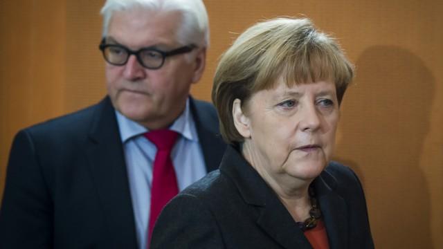 Große Koalition Merkel, Steinmeier und Russland