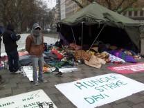Hungerstreik von Flüchtlingen am Sendlinger Tor in München