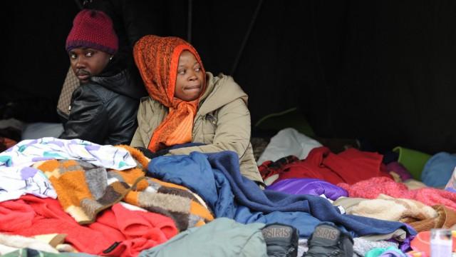 Flüchtlinge in München im Hungerstreik