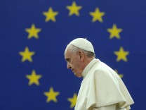 Pope Francis at EU Parliament in Strasbourg