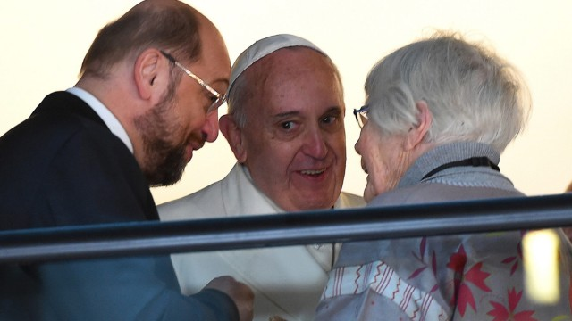 Pope Francis at the European Parliament