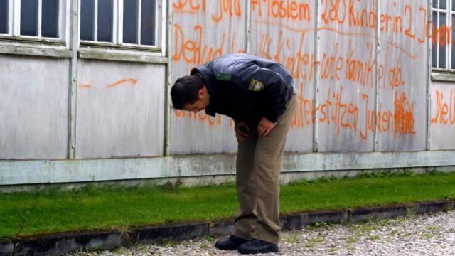 Schmierereien an der KZ-Gedenkstätte Dachau