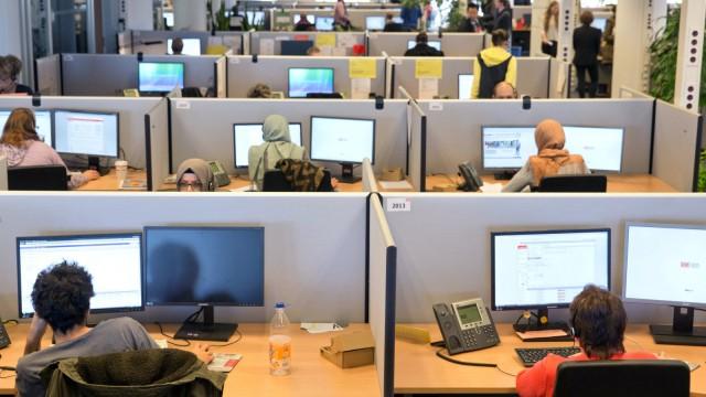 Lokführerstreik - Callcenter von DB Dialog