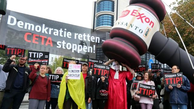 SPD-Parteikonvent - Demonstration