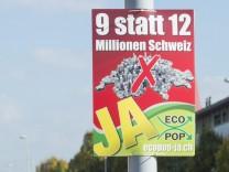 Referendum on proposal to limit population growth in Switzerland
