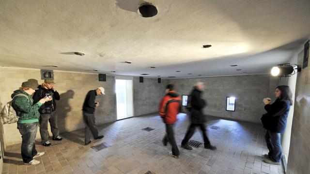 Brausebad im ehemaligen Konzentrationslager Dachau