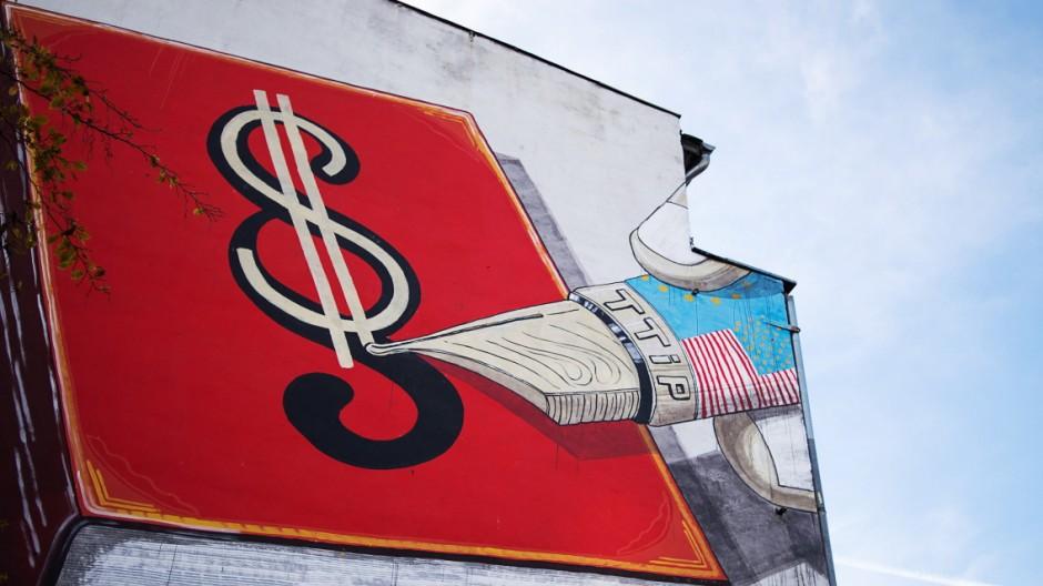 Wandbild zu Freihandelsabkommen