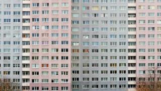 Fassade eines Wohnblocks
