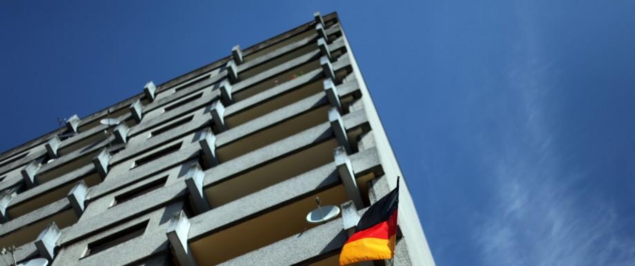 Hochhaus der SAGA in Hamburg-Mümmelmannsberg
