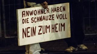 Protest gegen Asylbewerber-Heim in Berlin-Marzahn