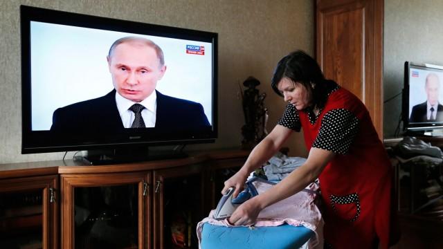Russian President Vladimir Putin addresses Federal Assembly
