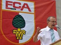 Grundsteinlegung für die neue Fußballarena in Augsburg