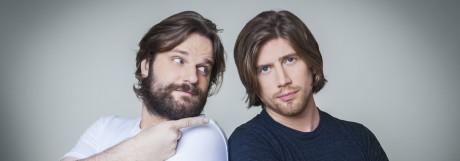 """Valentin """"Sarazar"""" Rahmel (rechts) und sein Geschäftspartner und Kumpel Erik """"Gronkh"""" Range."""