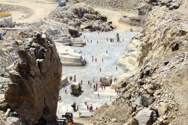 File photo of labourers at Grand Renaissance dam in Guba Woreda, Benishangul Gumuz region