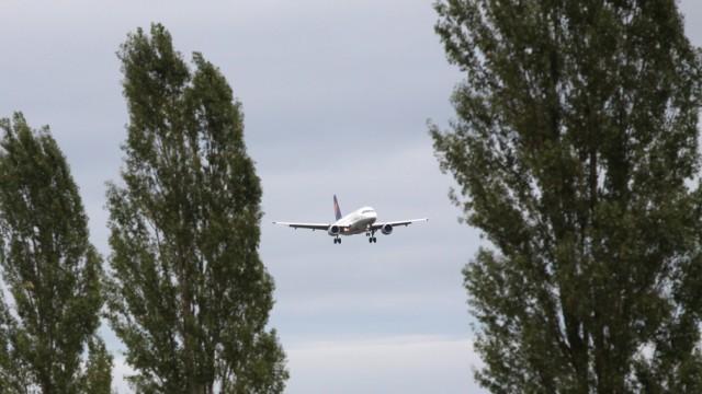 Flughafen München Landeanflug auf Flughafen München