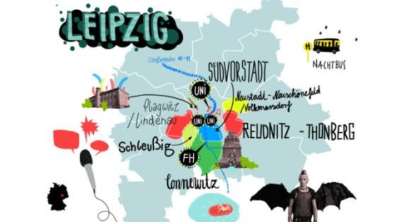 Leipzig Karte Mit Stadtteilen.Studium In Leipzig So Lebt Es Sich In Der Uni Stadt