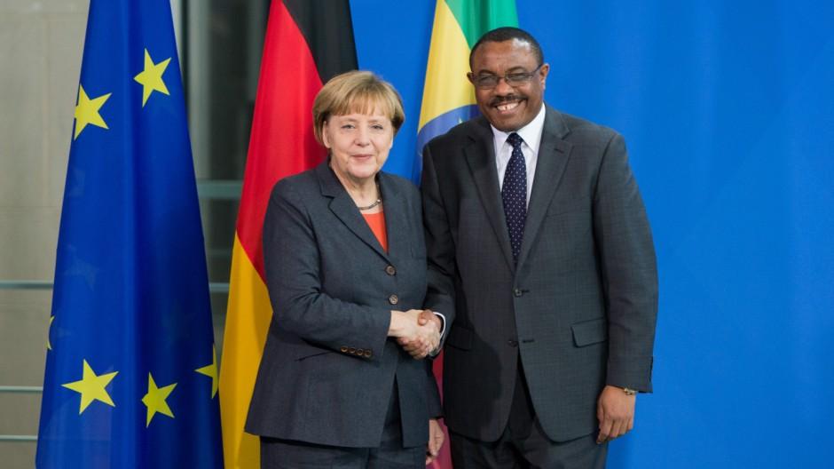 Angela Merkel empfängt äthiopischen Ministerpräsidenten Desale