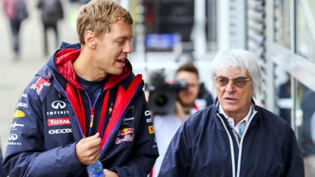 Sebastian Vettel und Bernie Ecclestone