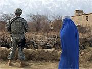 US-Soldat und Afghanin; AFP