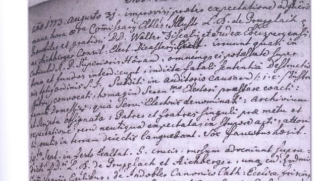 Urkunde, Schülerprojekt Ebersberger Kloster