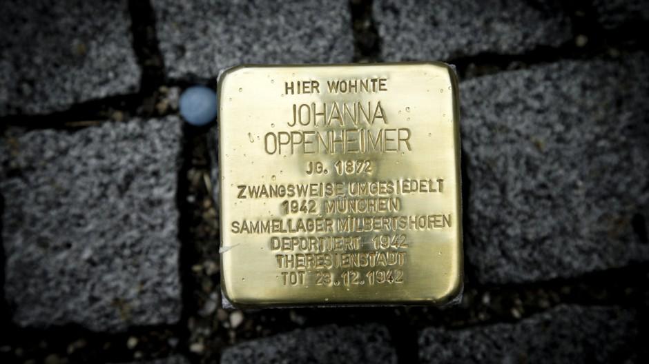 Schoengeising: STOLPERSTEIN Johanna Oppenheimer